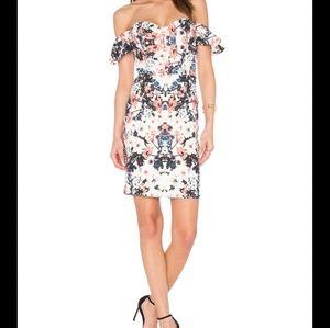 Parker Savina Floral Off the Shoulder Dress SMALL